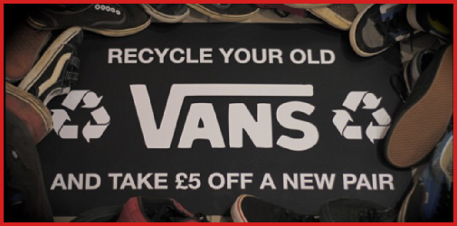 recycling old vans shoes uk